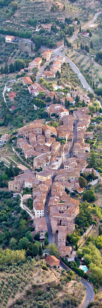 Montisi aerial view