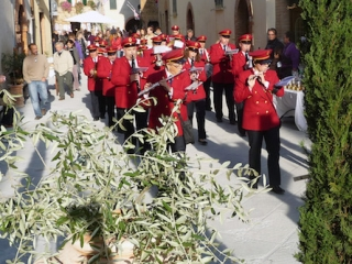 The Marching Band at the Olive Oil Festival Montisi