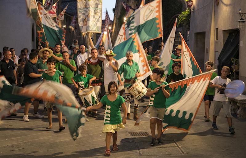 Contrada Piazza win the Giostra di Simone 2017