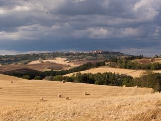 View across to Pienza