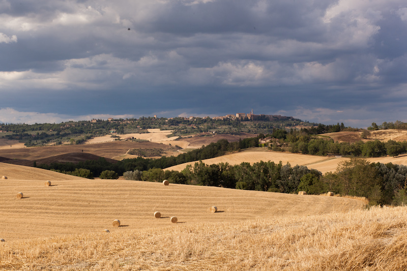 View across to Pienza