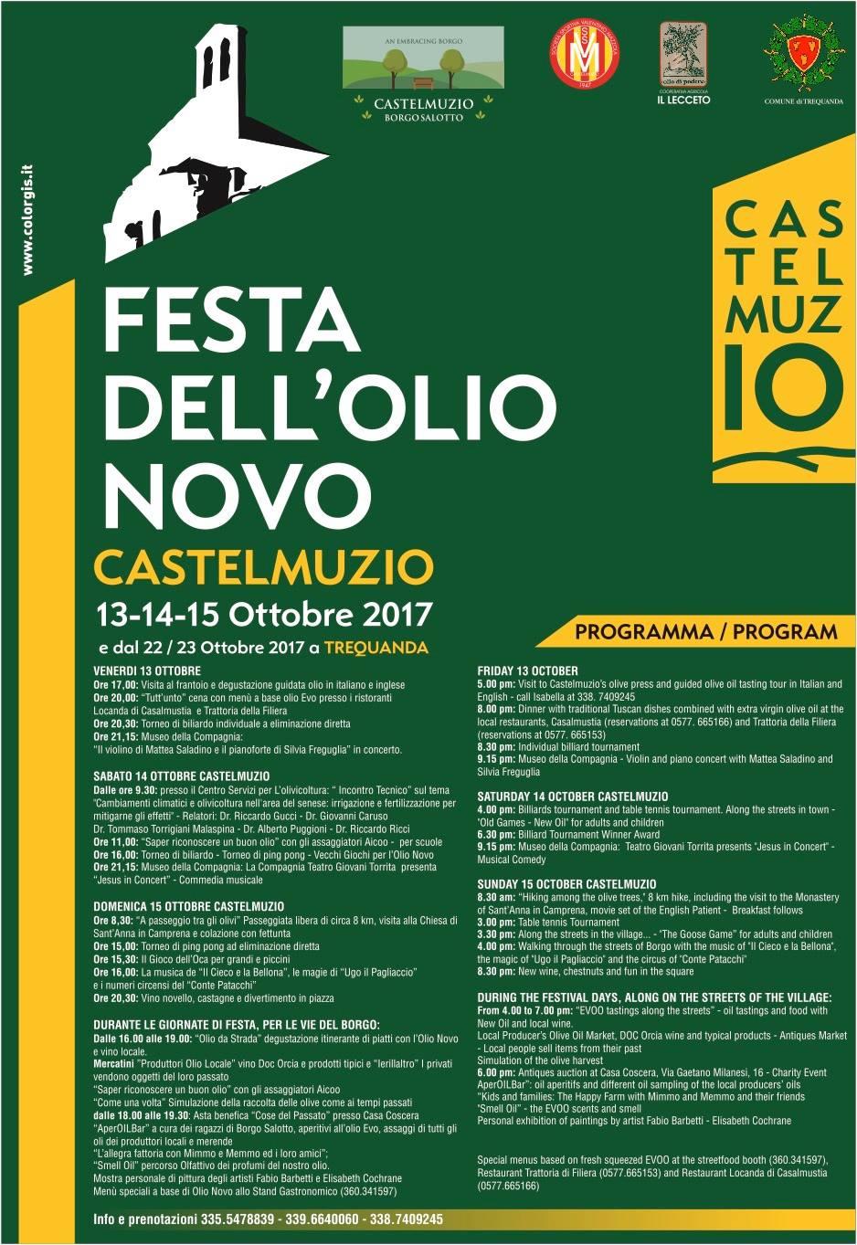 Castelmuzio Olive Oil info
